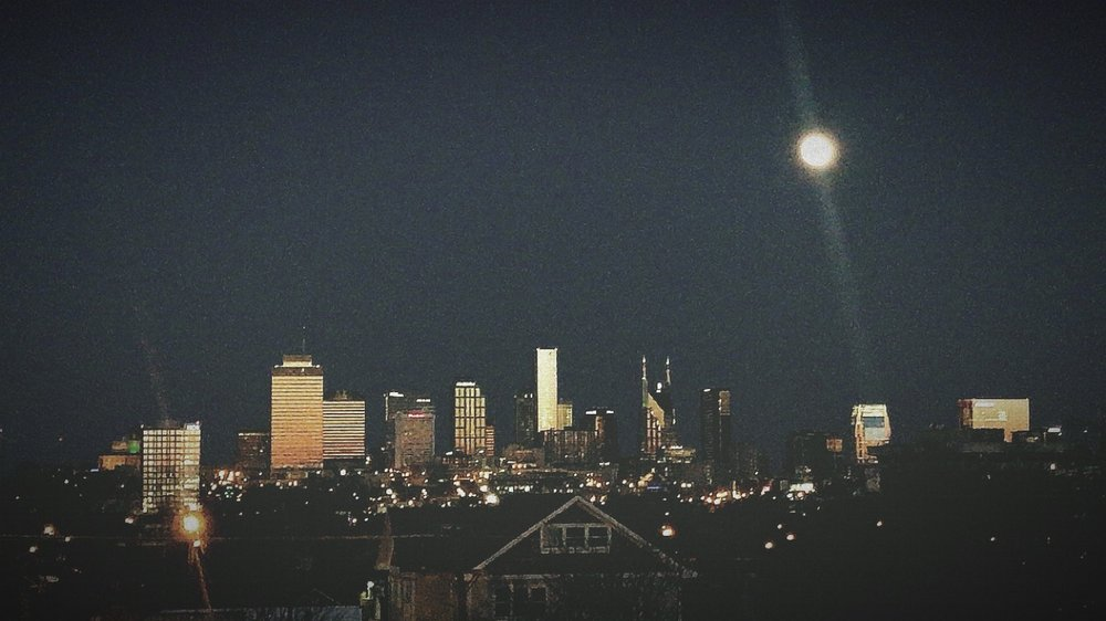 Nashville Skyline at Night taken by Darci Aubrey