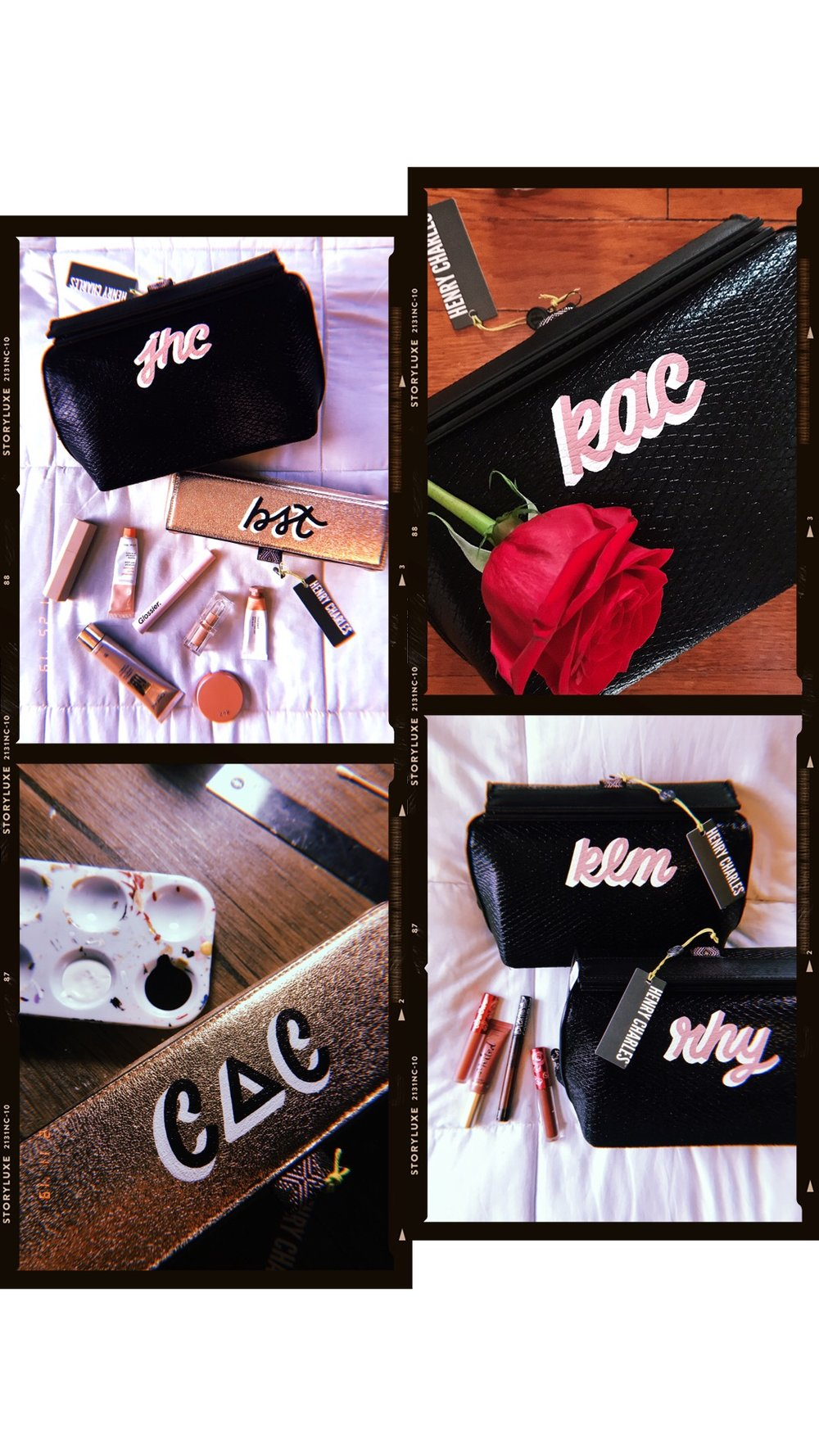 lauren x henry charles - So happy to announce that I've partnered with designer cosmetic bag brand HENRY CHARLES. As a part of their new Customize Your Bag feature, I'll be lettering their incredible RO-PRO Large Deluxe Cosmetic Clutch and RO-PRO Brush + Makeup Case for clients that want to spice up their HC purchase!AS SEEN ON SHEFINDS.COM + TIFFANY HADDISH