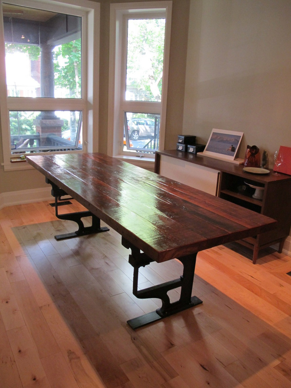 BeReclaimed - Reclaimed Wood Table - Southern Yellow Pine with Architectural Salvaged Cast Iron Legs - Annex Toronto.jpg