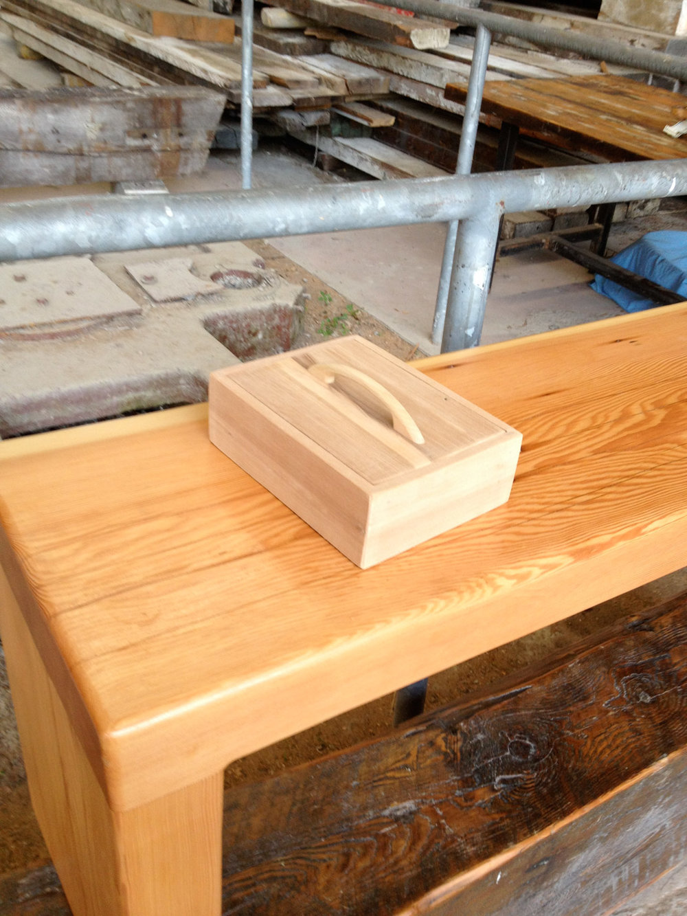 BeReclaimed - Reclaimed Wood box - Gumwood from Baseboards Salvaged in Forest Hill Toronto.jpg