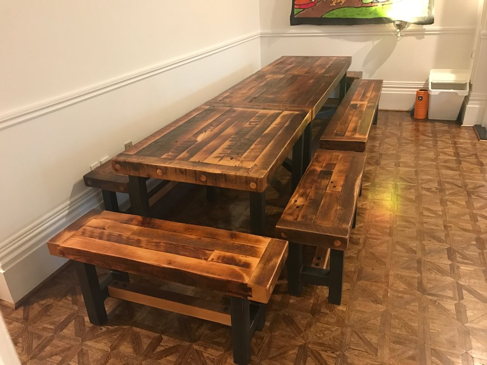 BeReclailmed - Reclaimed Wood Table - Distillery District Douglas Fir - Cabbagetown.jpg