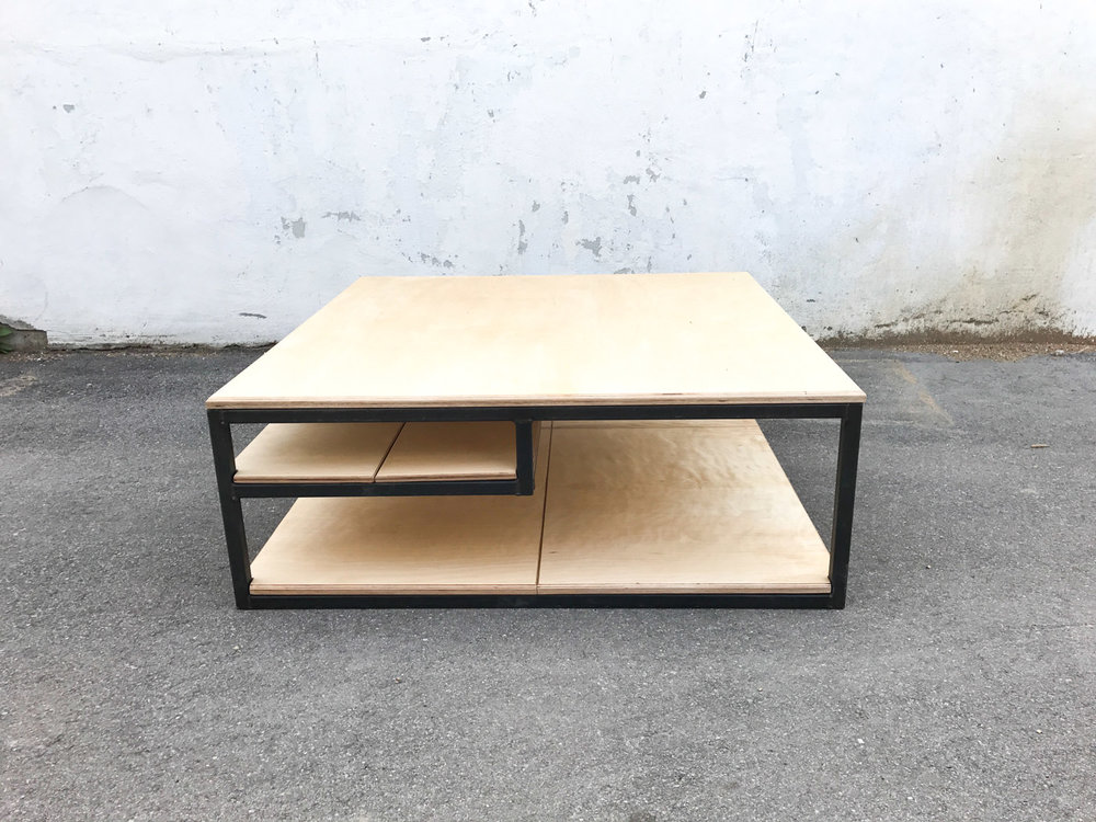 BeReclaimed - Custom Coffee Table - Steel Frame - Baltic Birch Plyood - Leslieville.jpg