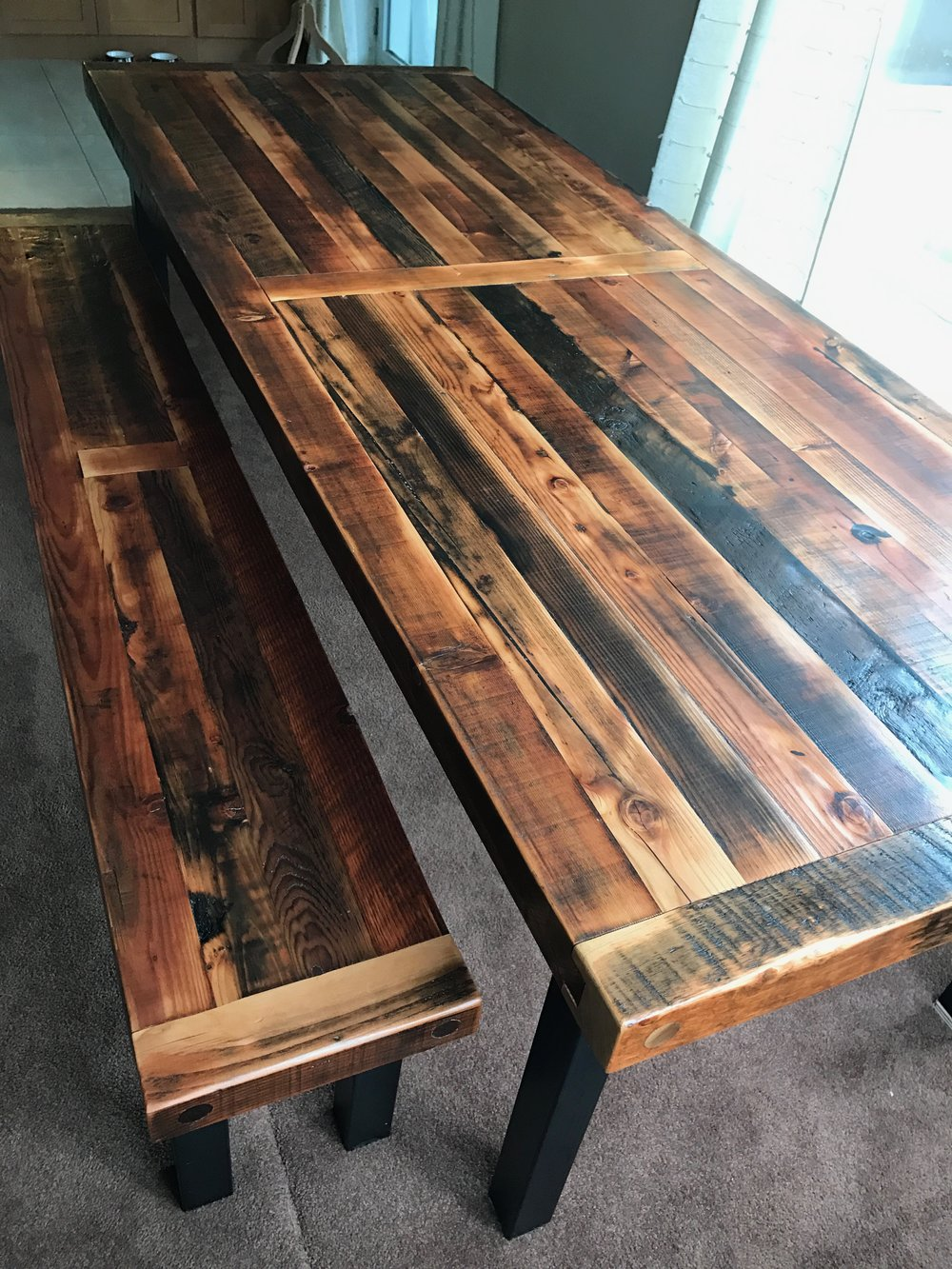 BeReclaimed - Reclaimed Wood Table - Douglas Fir Joists from Distillery District Toronto.jpg