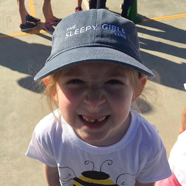 Our youngest member to date in our denim member hat. Only one more of these caps left in stock. Link in bio. 💤💤💤