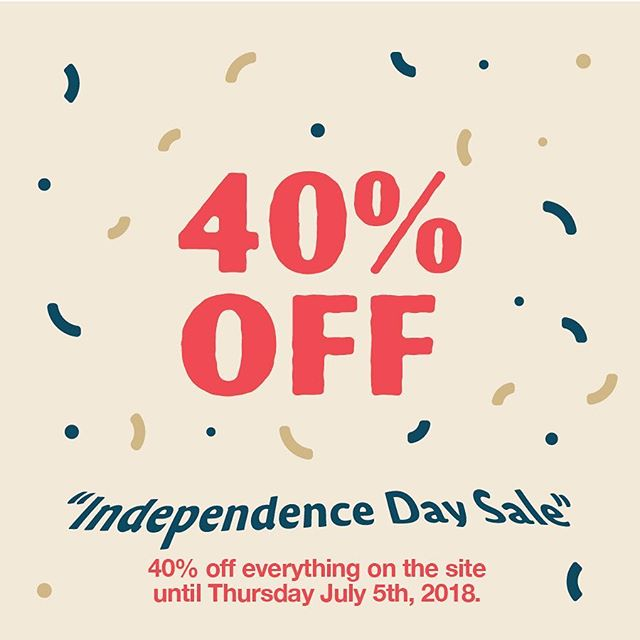 Happy Independence Day! To celebrate, we are giving you 40% off everything. Sale lasts until Thursday, July 5th, so order soon! 💤💤💤