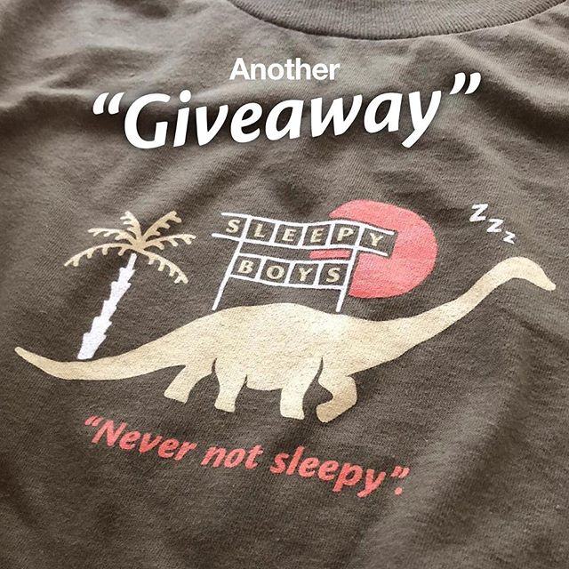Here we go again! Here's another #GIVEAWAY! This time it's for one of our prehistory sleepy boy tees. Same rules as always. Follow our page and tag two friends in the comments to enter for a chance to win. Winner will be chosen FRIDAY, MARCH 8TH.