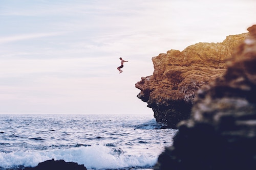 No, good insurance shouldn't make you want to go and take up cliff jumping but if you happen to find yourself doing so... maybe you'll feel a bit better about it.