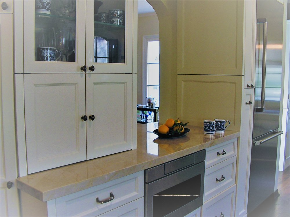 -   Thrilled is the only way to describe my remodeling experience with Wendy Wilson.My new kitchen/TV Room has every modern amenity and at the same time fits beautifully into my 1927 house.Throughout the process, Wendy's anticipation kept things moving right along. At all times, she directed my thoughts and tastes into an overall vision. She considered things – like bringing the kitchen counters up flush to the bottom of the windows – that I would never have thought of. She guided me through the stone counter purchase and layout with foresight and patience.There is not one thing I would change in my remodel.I will be hiring Wendy Wilson for all of my future projects. P. Chapman, Studio City, CA
