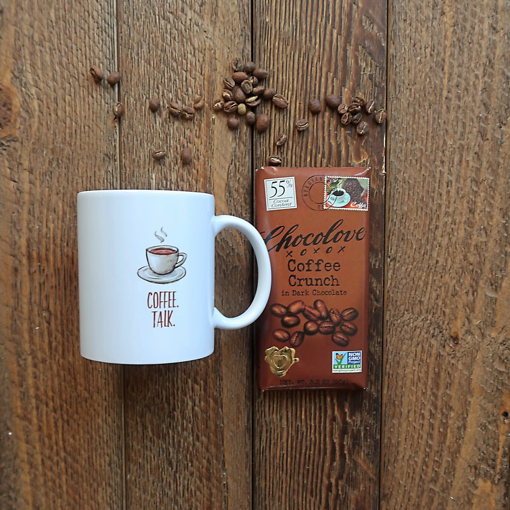 The Coffee Lover - For the SLP who loves coffee, this is the perfect gift. Include a Chocolove Coffee Crunch chocolate bar, a bag of his or her favorite coffee beans, and our