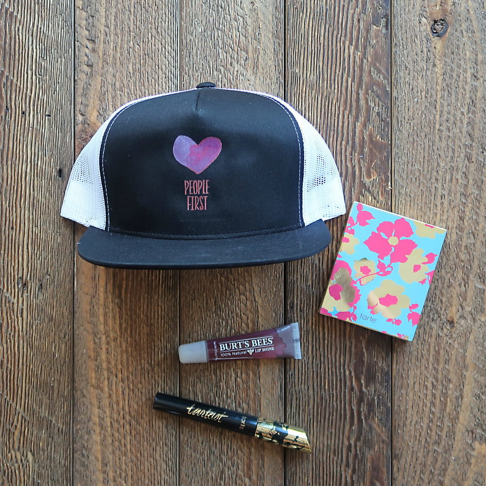 The Beauty Lover - This gift idea features a Tarte compact and mascara, with some Burt's Bees lip gloss, and our
