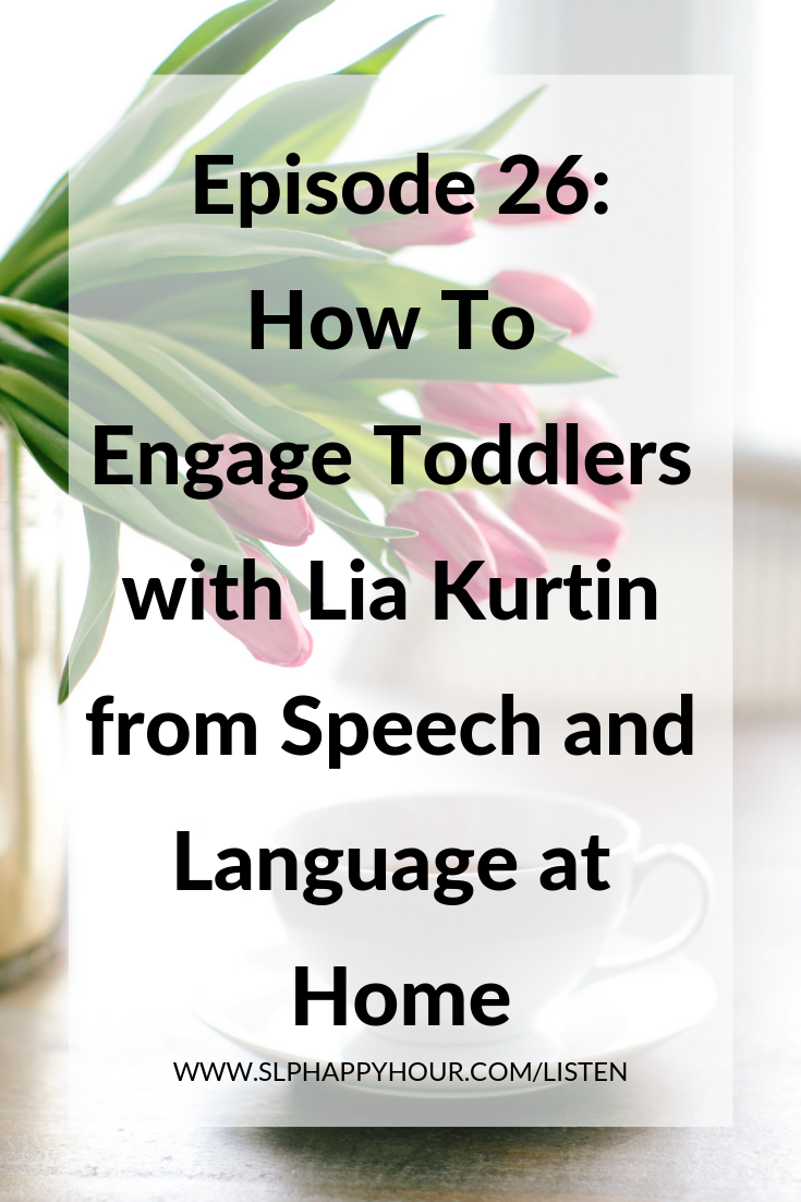 This episode, an interview with Lia Kurtin of Speech and Language at Home, you'll get your most-asked for toddler questions answered. How do you deal with toddlers who say no? What are some go-to activities to engage toddlers? How do we start those first toddler sessions? Lia shares 5 easy tips for first sessions with toddlers - what to do, what to talk to parents about, and how to engage those little ones in speech and language learning.  #slpeeps #speechtherapy