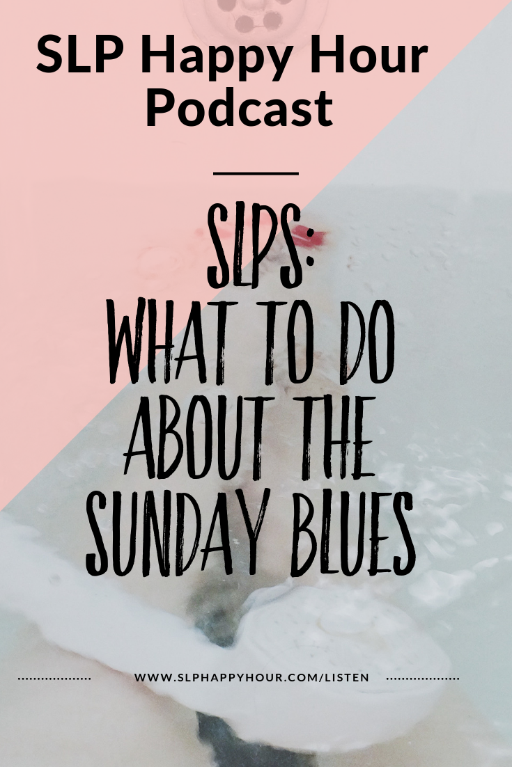 The podcast episode discusses burnout, the Sunday Blues, and how to manage both. #slpeeps #speechtherapy