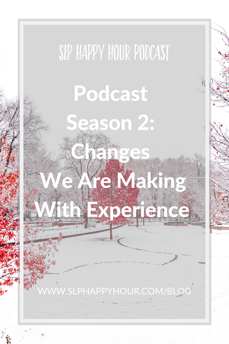 What were our biggest podcasting mistakes? What would we do differently if we could? What are we doing differently in Season 2 of the SLP Happy Hour Podcast? #slpeeps #speechtherapy