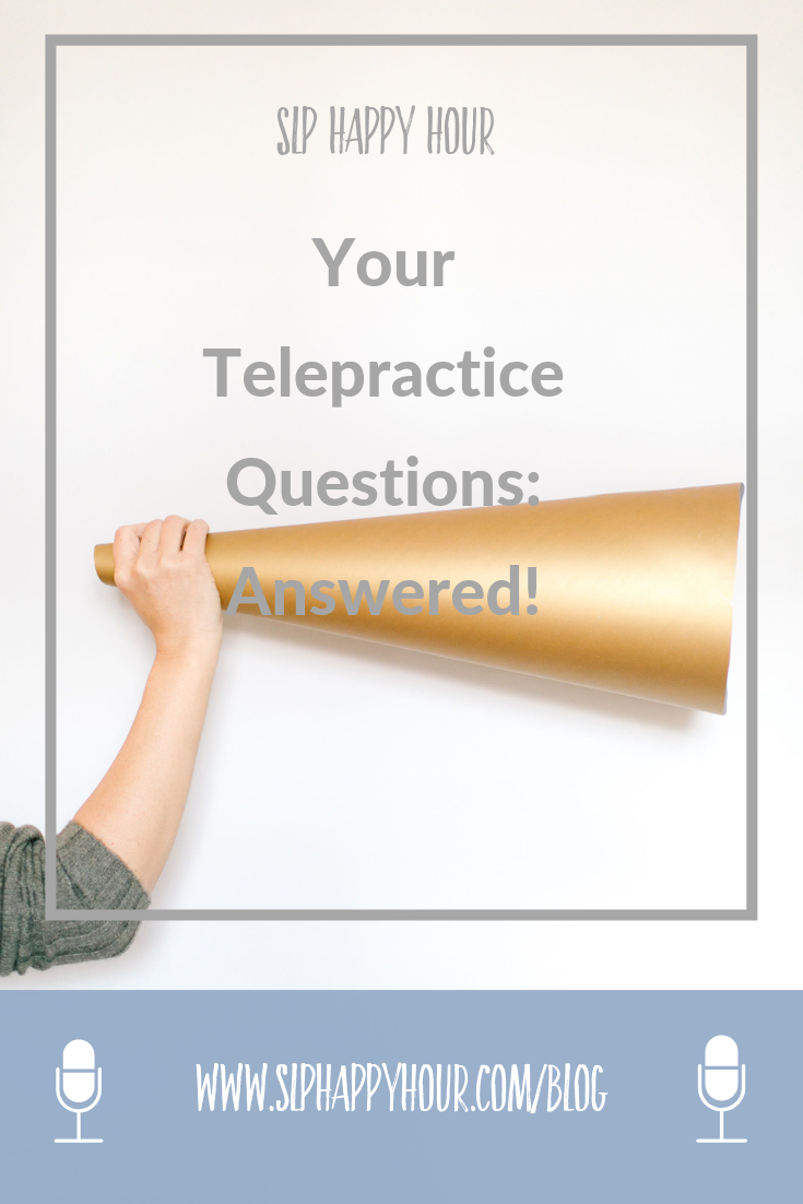 Are you an SLP considering telepractice? We answer the five most common questions we get about working in this setting, plus the pros and cons. #telepracticeslp #slpeeps