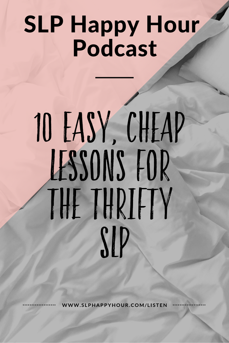 n this special episode, Sarah and Sarie share 10 easy lessons to make your SLP life run even more smoothly.   What's an easy lesson?One that can work:   For mixed groups  For a varied caseload   Doesn't involve lots of expensive materials  Is no-prep or low-prep