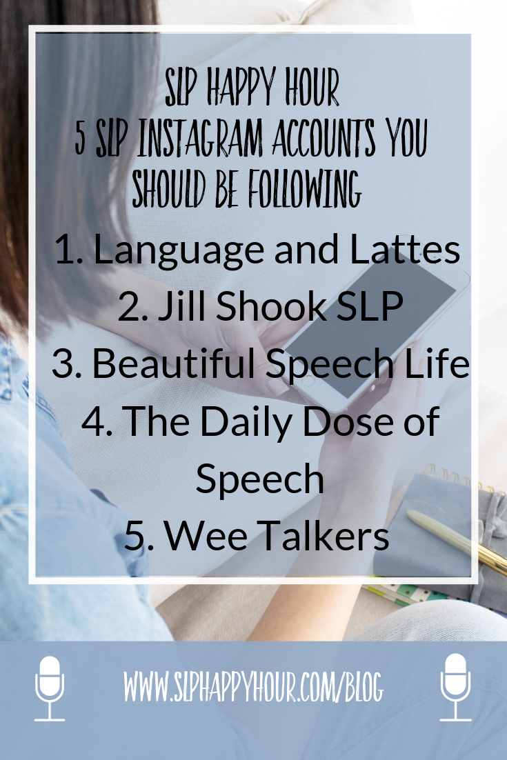 Want some ideas for SLPs to follow on IG? These accounts are full of tips for the SLP looking build build their knowledge in the social media sphere! #slpeeps