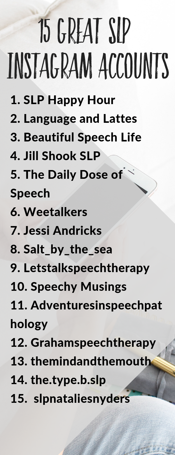 Want some new SLP accounts to follow on Instagram? These speech therapy social media accounts have consistently great content and good ideas for therapy! #slpeeps