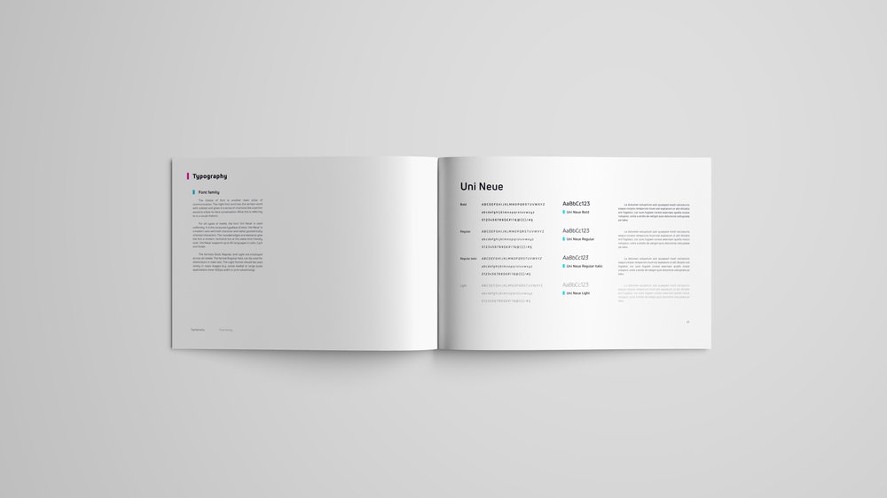 intra brand book typography