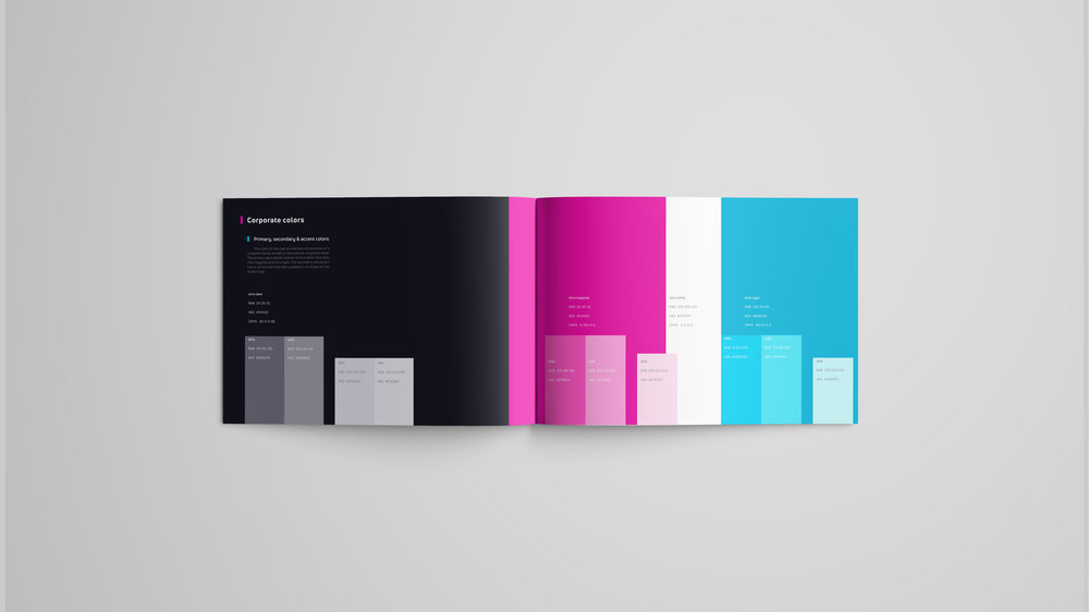intra brand book color