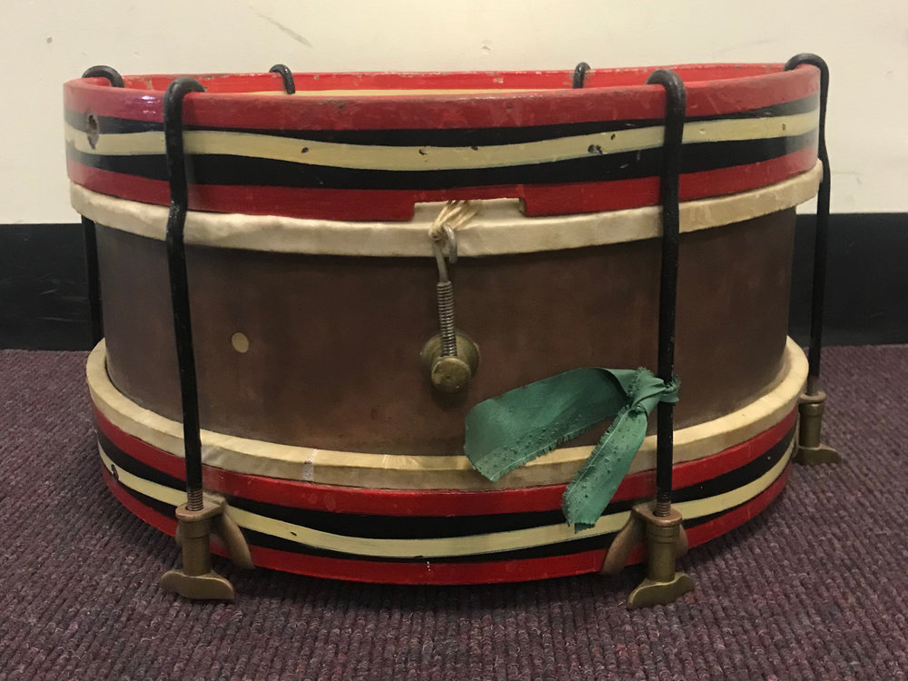 One of the original school drums from the 1920s