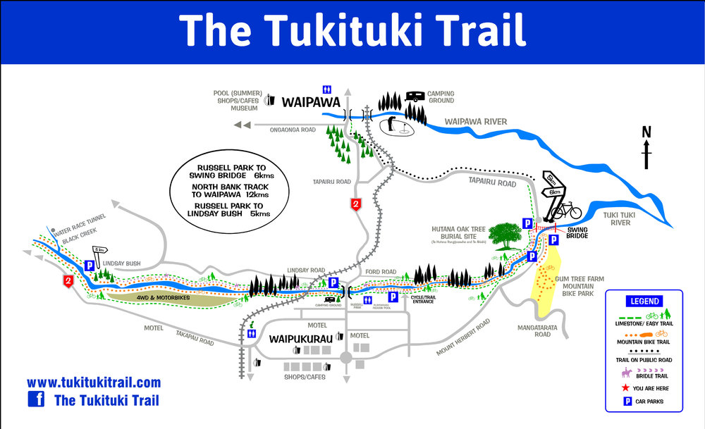 Tuki Tuki Trails map