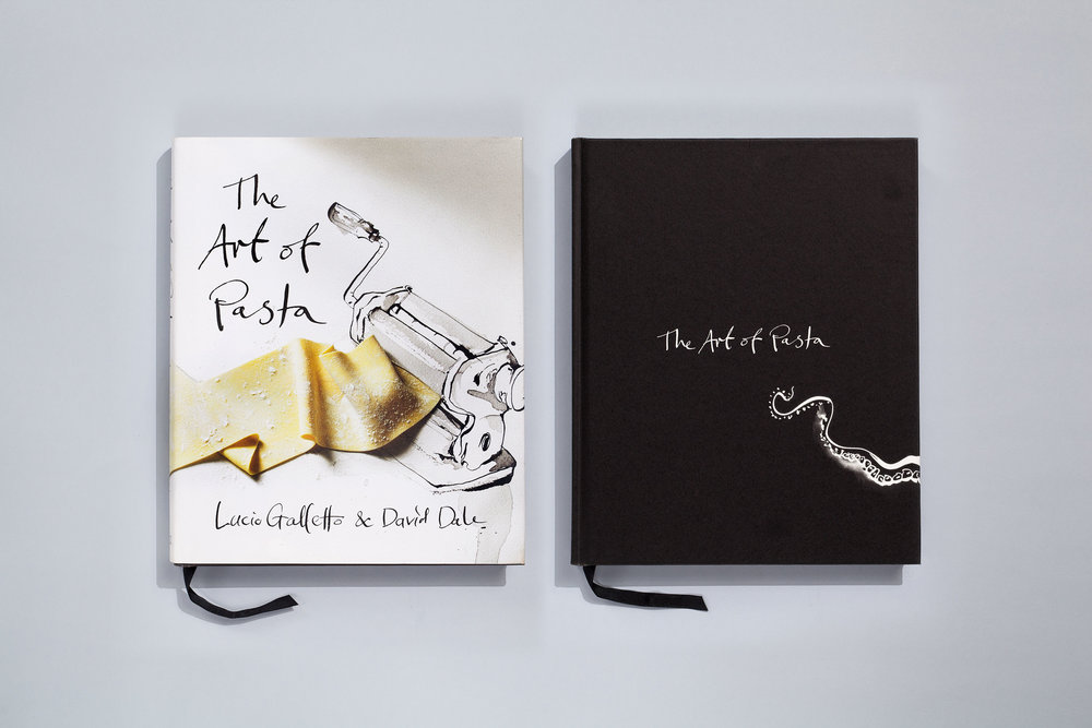 Title – The Art of Pasta Authors – Lucio Galletto & David Dale Artwork – Luke Sciberras Designer – Daniel New Photographer – Anson Smart Stylist – Rachel Brown Publisher – Lantern, Penguin Books  2012 Australian Book Design Awards + Cover of the Year + Best Designed Cookbook 2012 Gourmand World Cookbook Awards + Best Italian Cuisine (Australia)