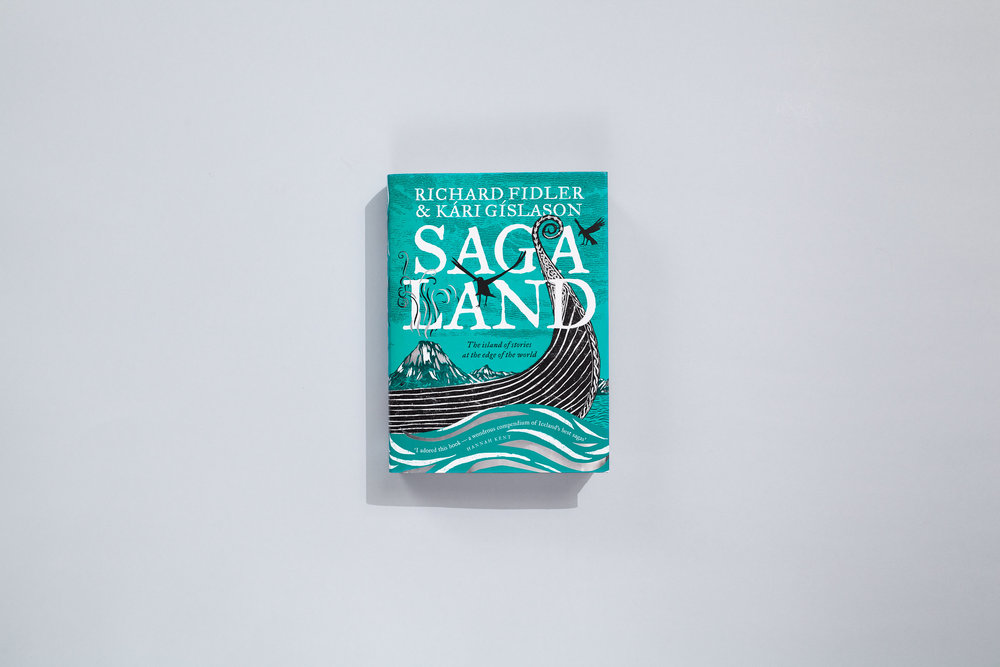 Title – Saga Land Authors – Richard Fidler & Kari Gislason Designers – Daniel New & Evi O / OetomoNew Cover illustrator – Daniel New Map illustrator – Clare O'Flynn Publisher – ABC Books