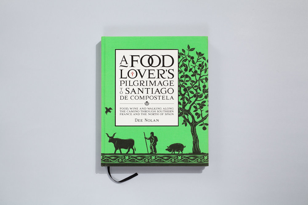 Title – A Foodlovers Pilgrimage to Santiago De Compostela Author – Dee Nolan Designer – Daniel New Photographer – Earl Carter Illustrators – Daniel New & Arielle Gamble Publisher – Lantern, Penguin Random House