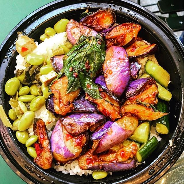 Happiness in a bowl 🍆🍚 📸: @jasmine61379 • • • • • #yumplingnyc #yumpling #foodtruck #nyceats #taiwanesefood #asianfood #eggplant #ricebowl #vegetarian #vegan #nycfoodie #eaterny #foodporn #foodies #eatingnewyork #eatupnewyork #nycfood #foodbeast #newforkcity #bestfoodny #forkyeah #foodgasm #instayum #foodstagram #igfoodie #foodnation