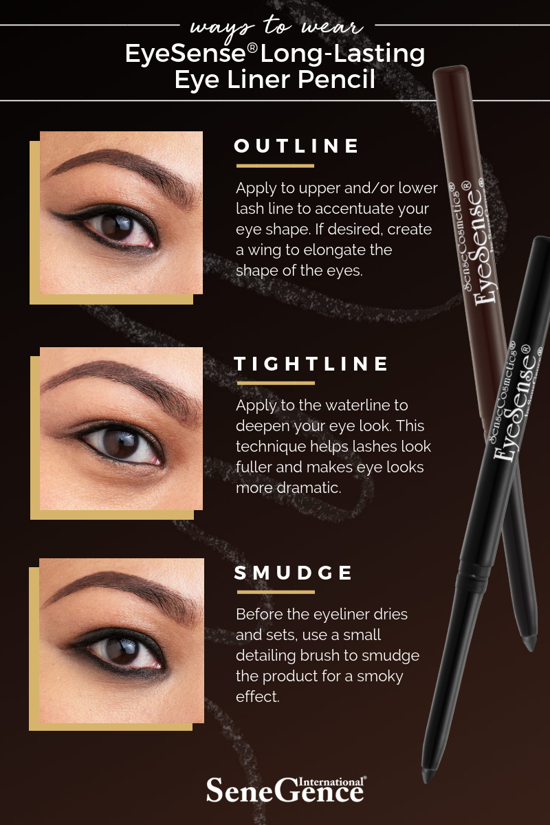 Ways to apply EyeSense Long Lasting Eye Liner Pencil - This Beauty Called Ours