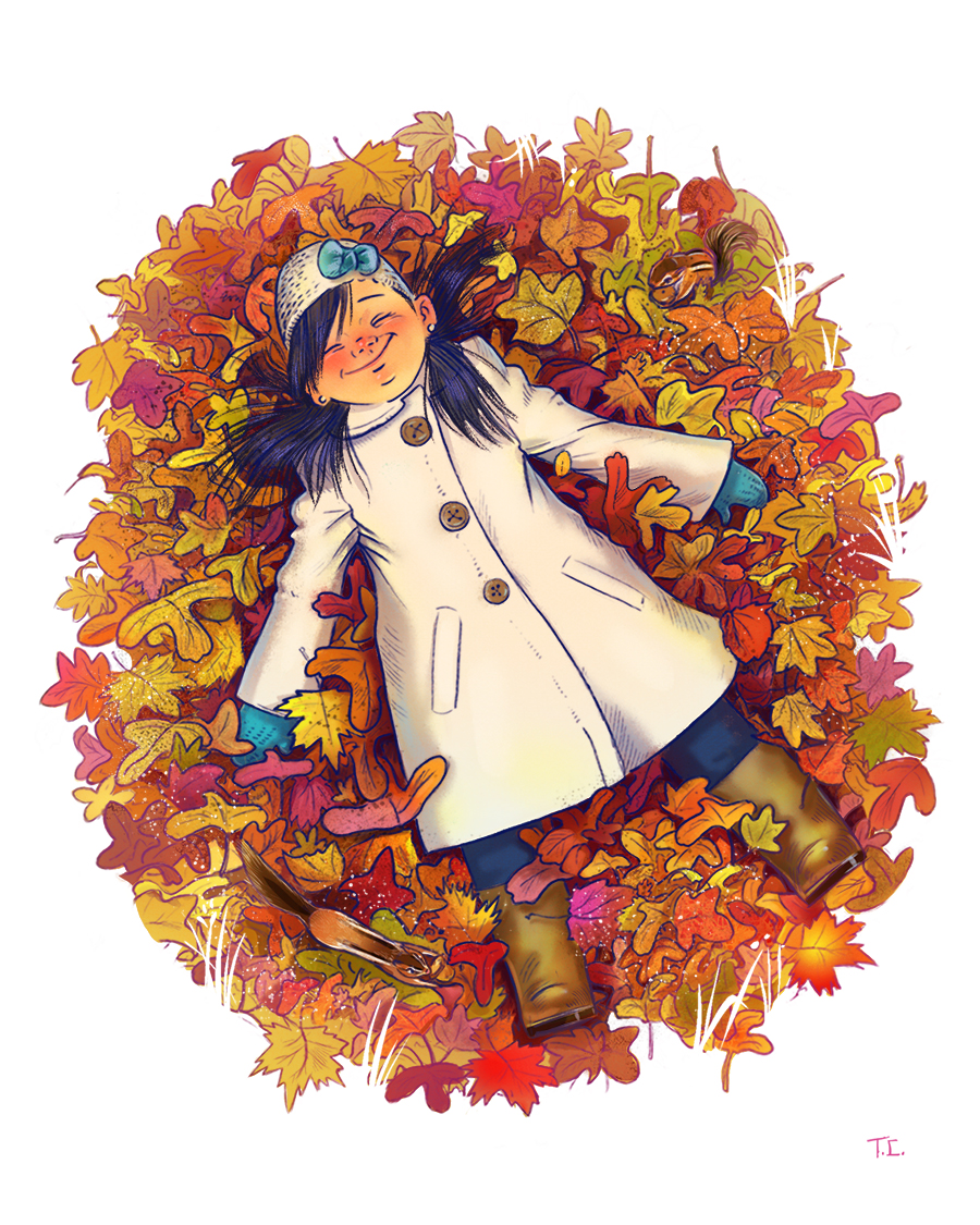 Autumn Illustration by Tamara Campeau