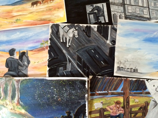 A collection of the original paintings used in creating the book.