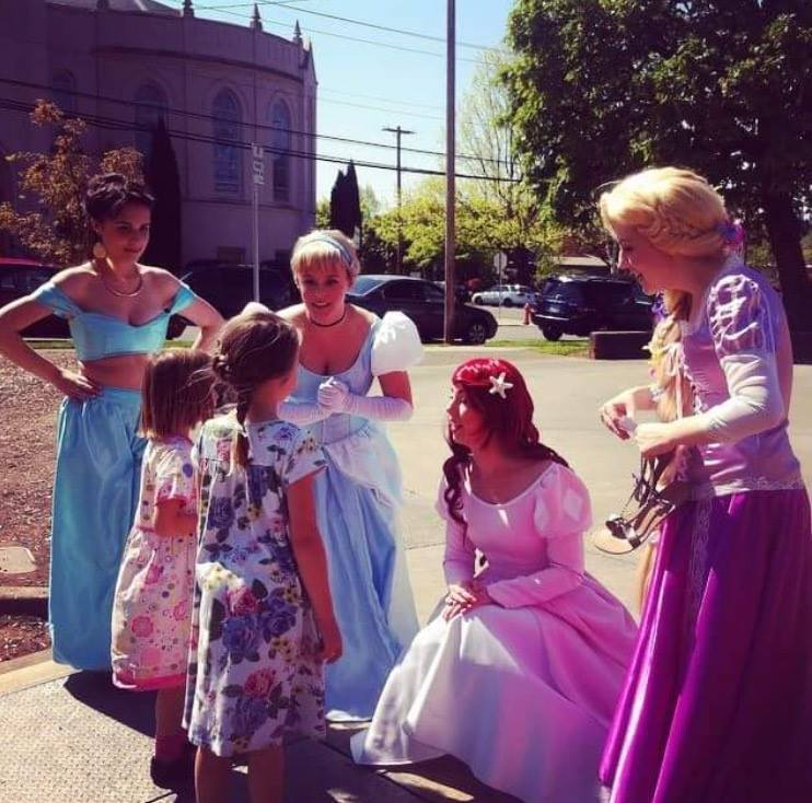 Julie as a Disney Princess making he days of some young ladies