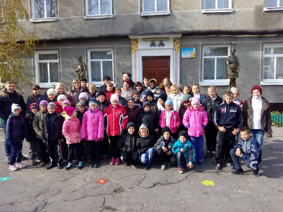 His Ukrainian Orphanage and some of his kids