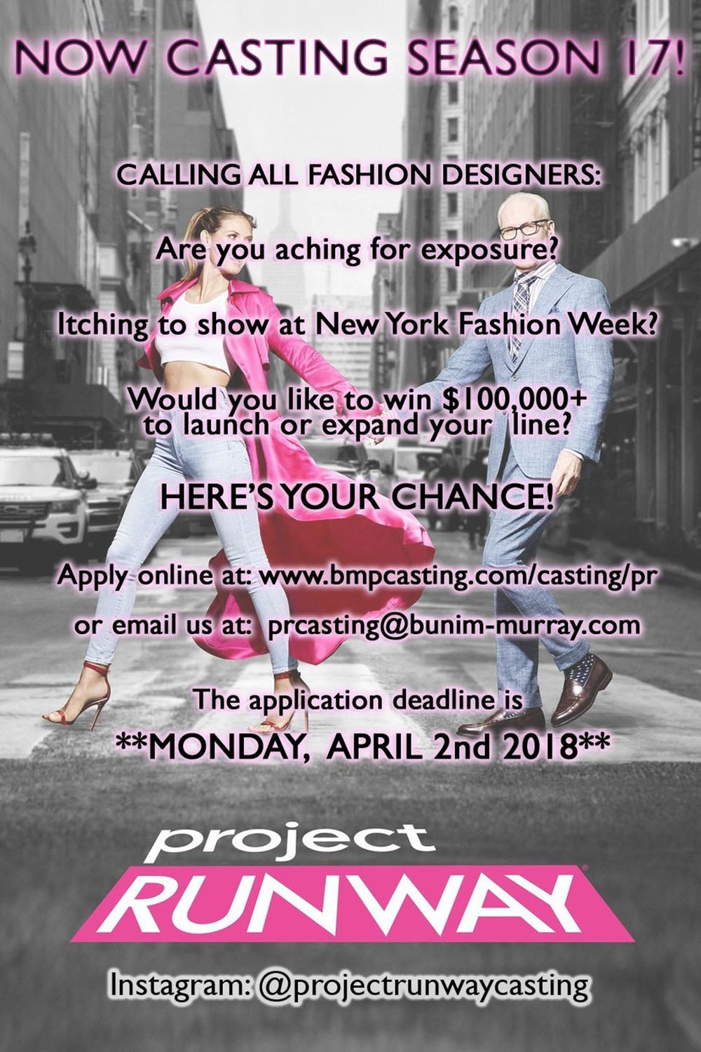 Project Runway Season 17 Casting Now