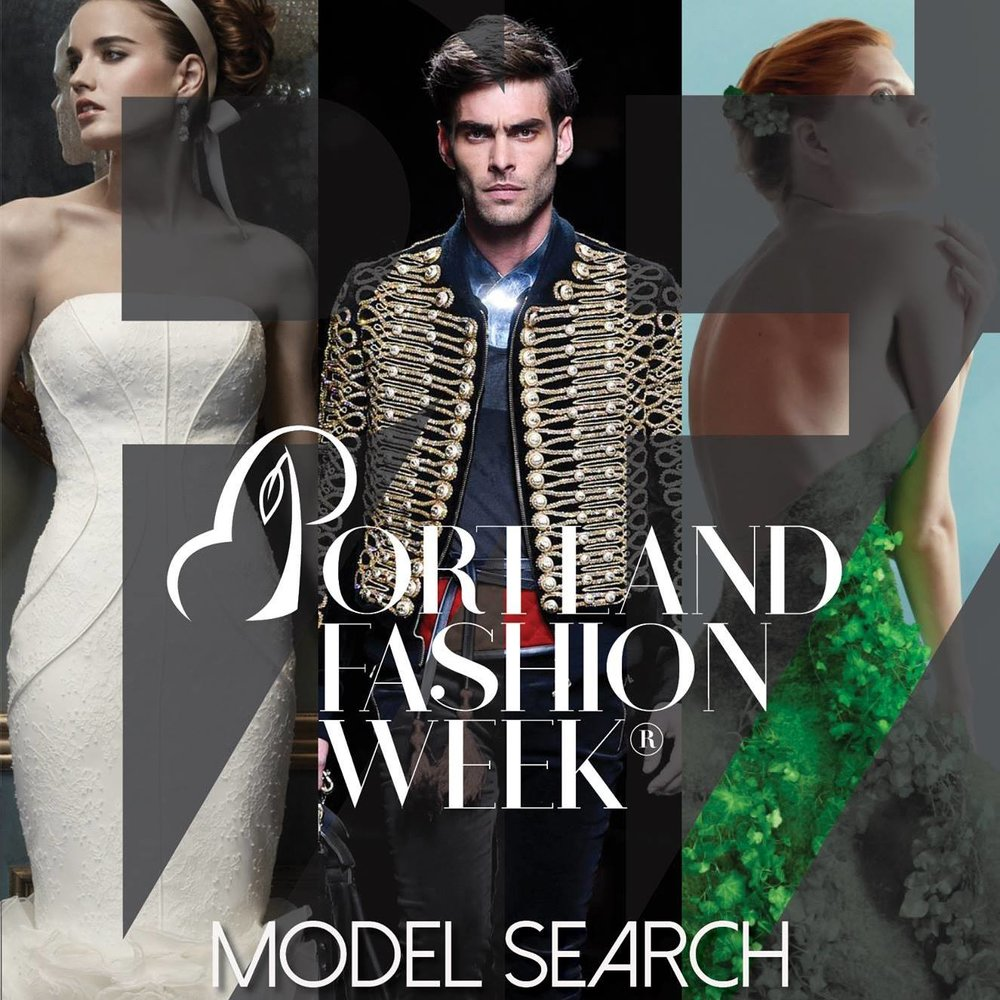 PFW 2018 Model Search - Portland Fashion Week 2018 online Auditions are being accepted now for our Oct. 10-14 series. Please contact us at: model@portlandfashionweek.net with current stats: Height, weight, bust, cup, waist, hips, in seem, dress and shoe sizes, as well as a standing and close up image, social media links, and a brief bio.                              Men please include chest, neck and sleeve length.
