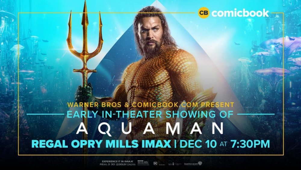 Portland Fashion Week - Invites you to an advanced screening of Aquaman Dec. 18 7:00 PM from Regal Cinemas Bridgeport.Visit us on Face Book and comment with your favorite super hero and why for your chance at winning!
