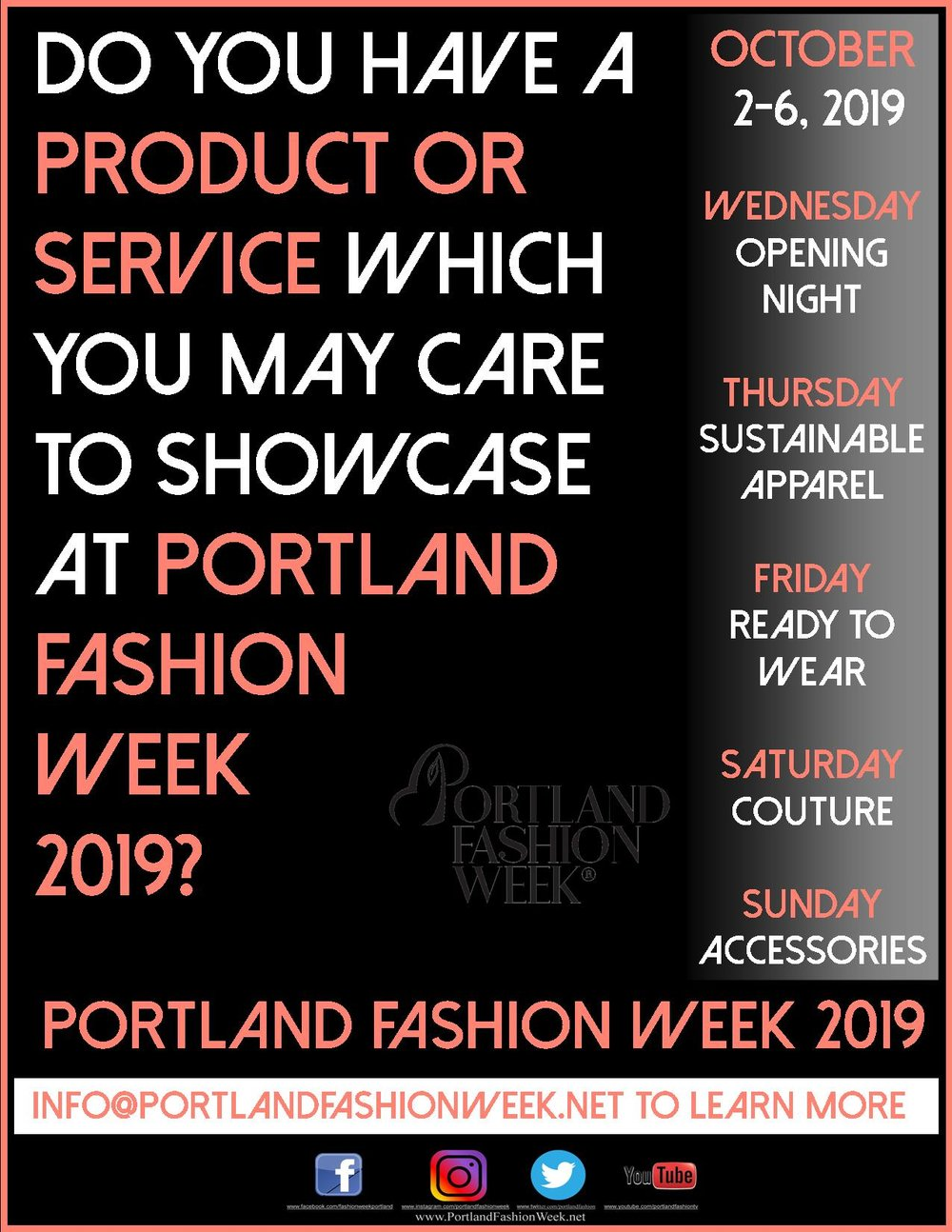 Product Placement - Do you have a product or service which you care to showcase along side of the world's most sustainable, eco-chic and only carbon negative fashion week? Gift Bag inclusions? A new product launch? Street teams? Shall we converse further and explore this option together? National and international press are focusing their attention upon us now, and the early business catches the headlines!