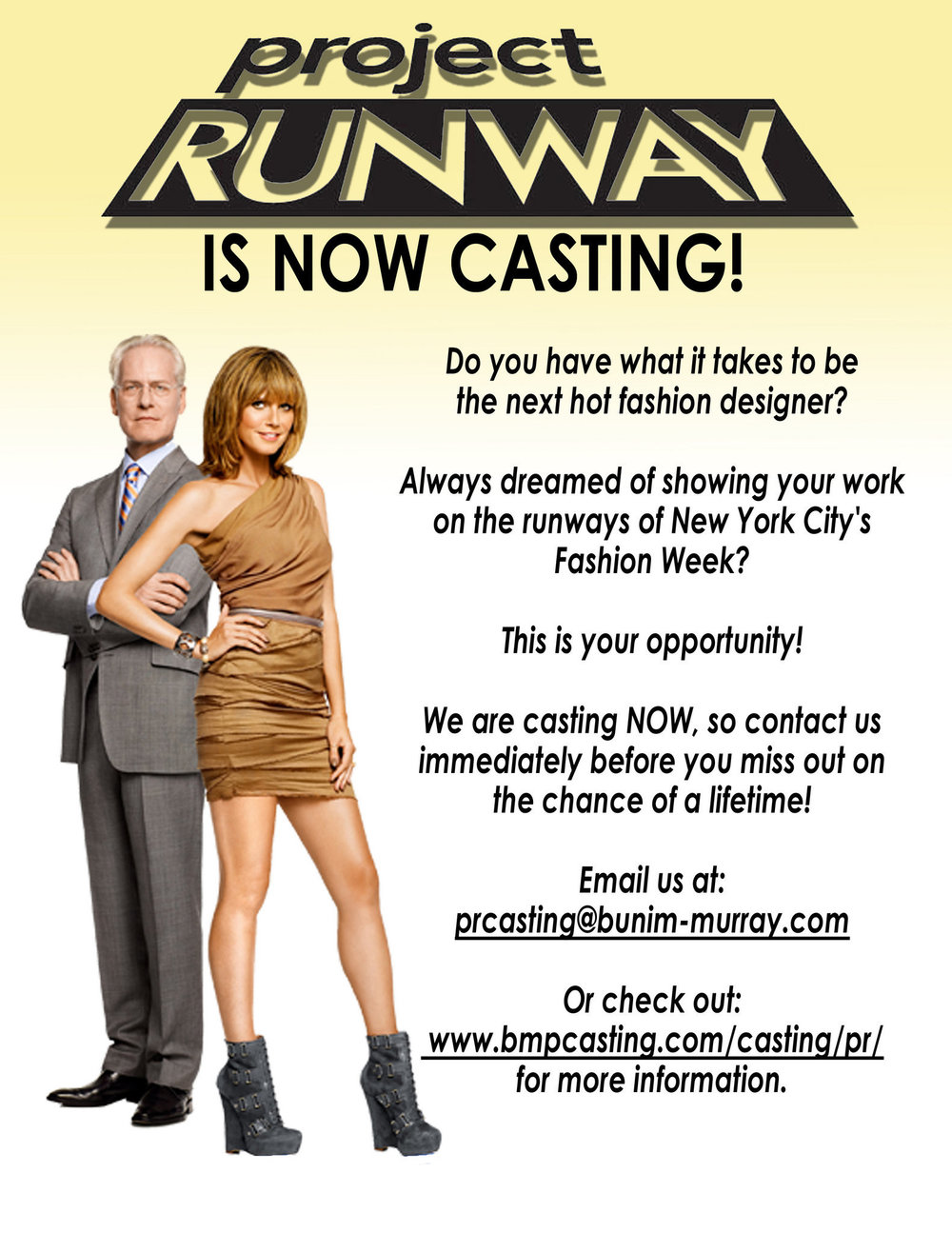 Project Runway Now Casting….. -