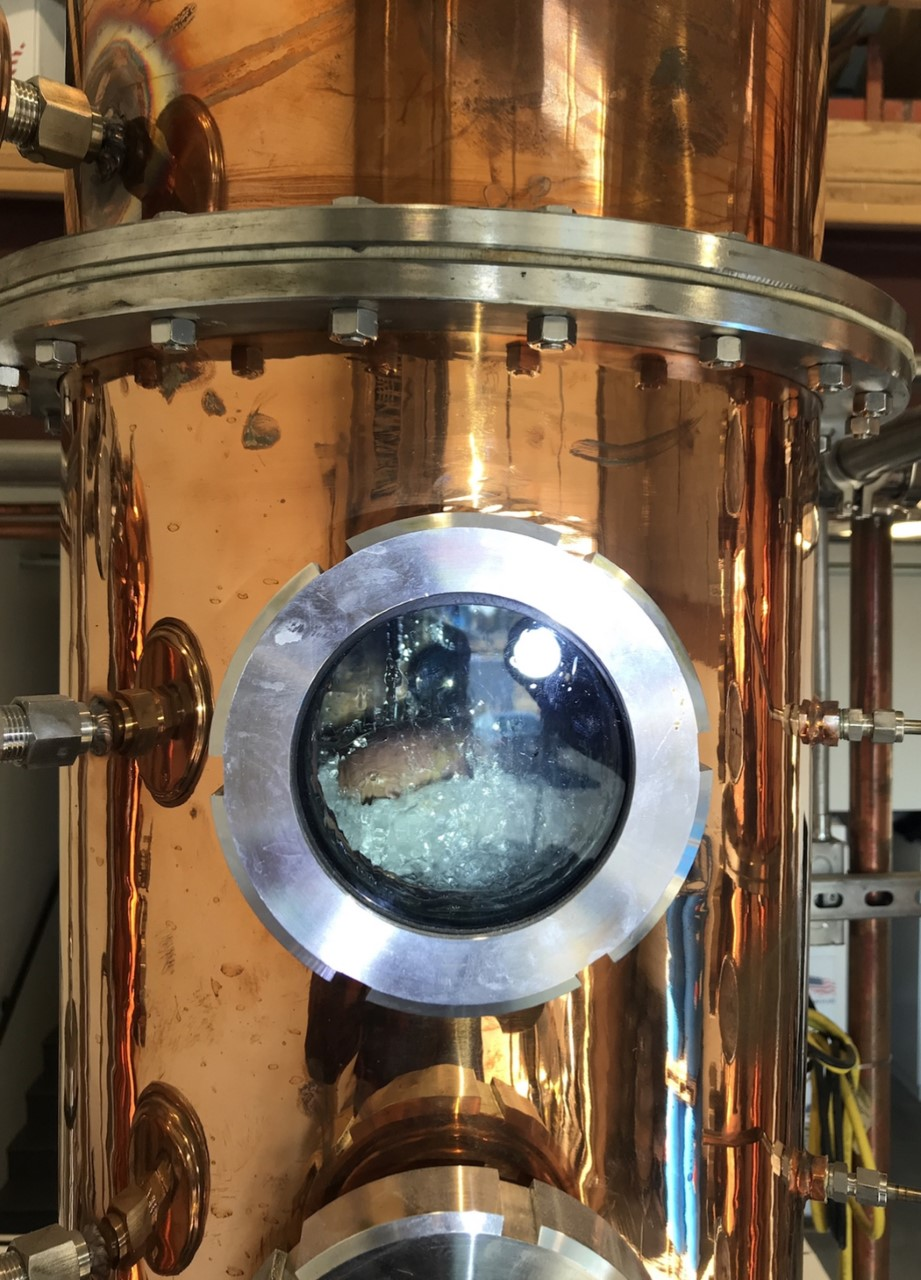 While using state of the art copper stills -