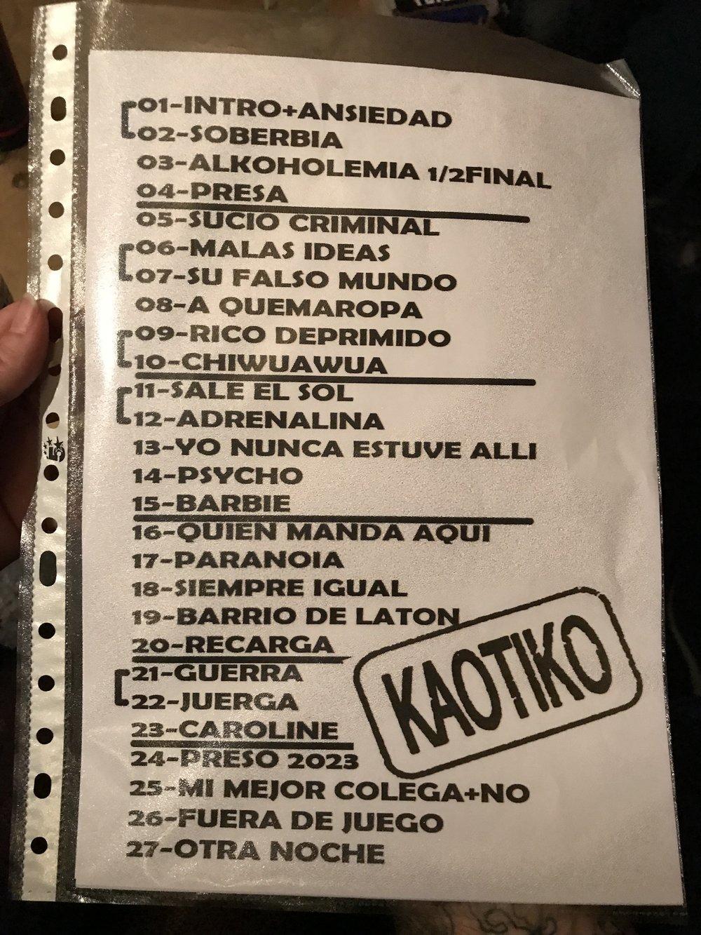 Set List -