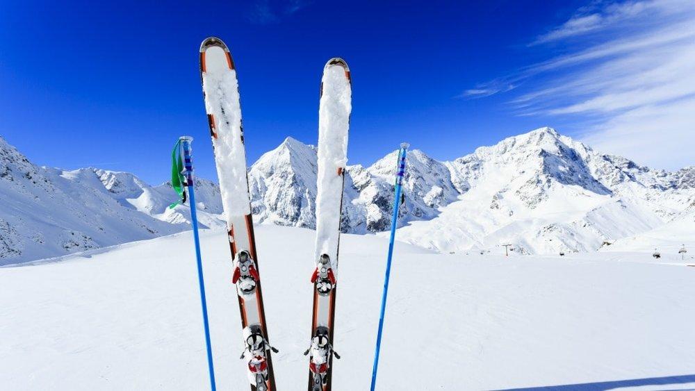 ski' op de berg viazoe