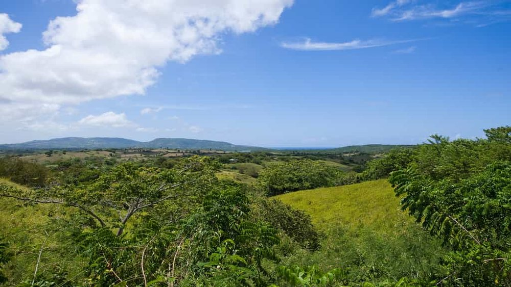 prachtige natuurschoon op de Dominicaanse