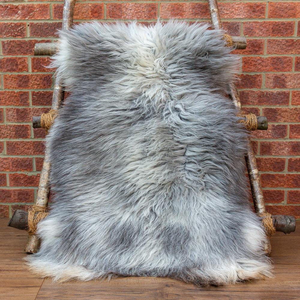 Grey Herdwick sheepskin rug