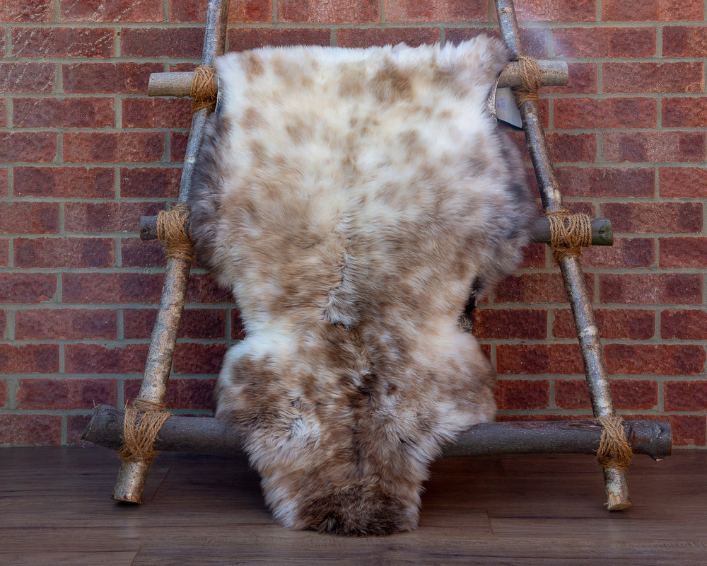 Silk soft sheepskin rug