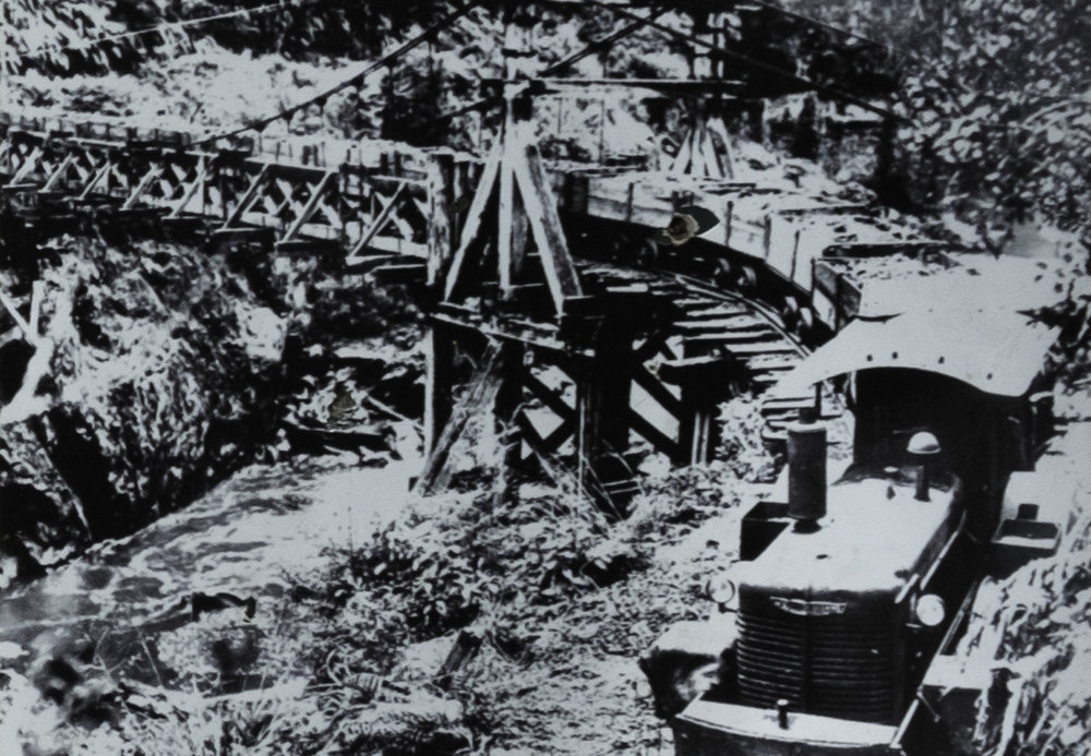 Pont suspendu de 1918.
