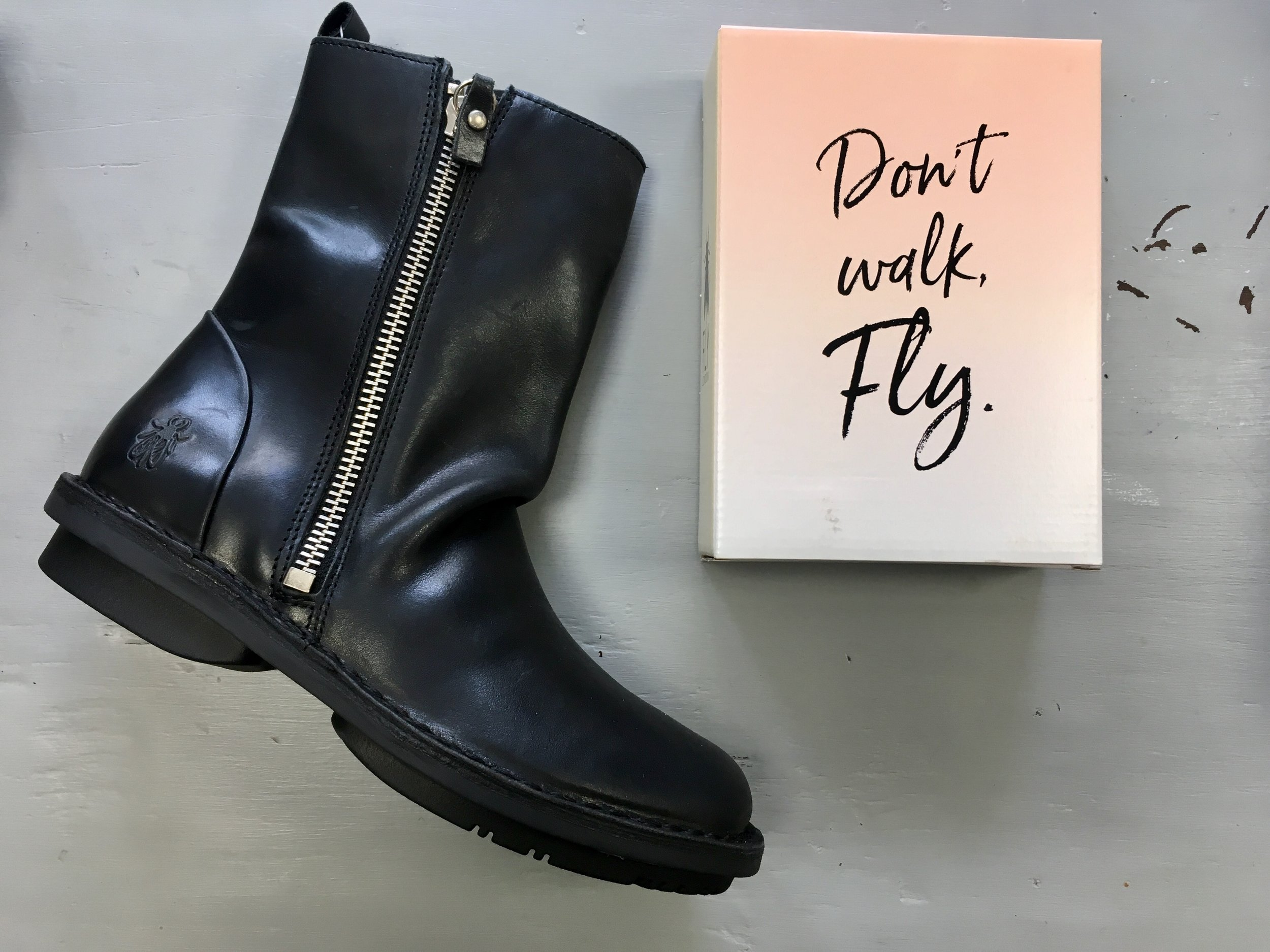 8fe2238439eae Fly London FADE black boots — Apparel Leeds | Ladies Fashion