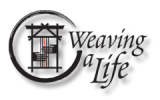Gina's weaving work is in the model of  Weaving a Life  by Susan Barrett Merrill. Gina is a  Weaving a Life Circle Leader.  For more information about visit www.weavingalife.com.