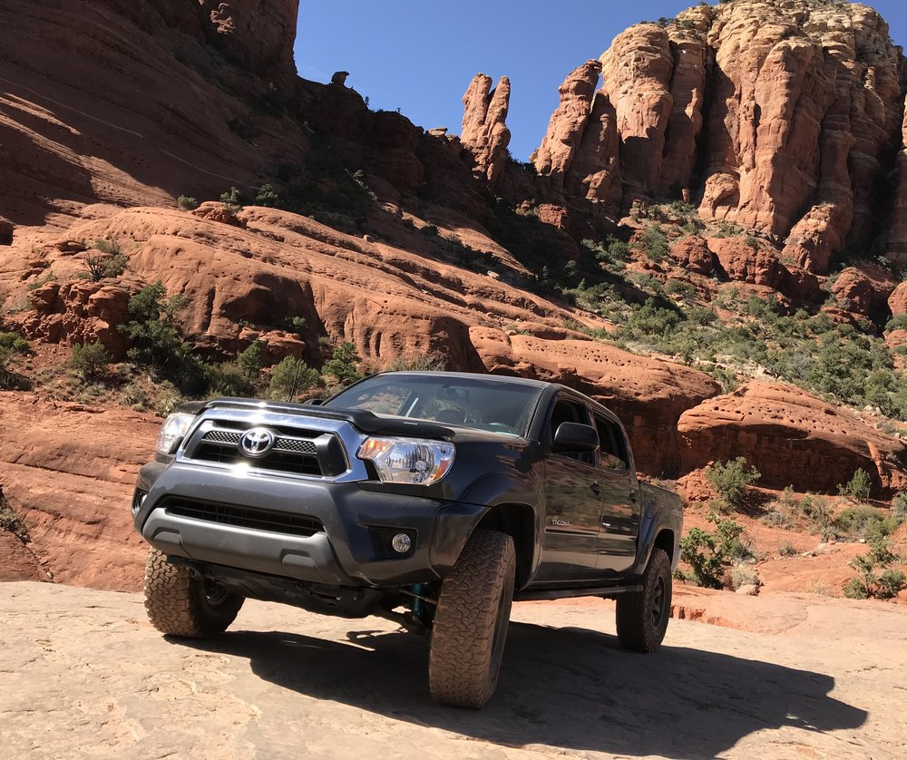 THE TACO ROLLING OVER THE RED ROCKS IN GOREGEOS SEDONA, ARIZONA