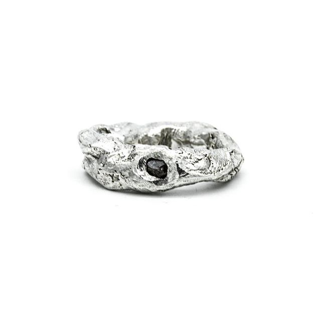 The Your Flesh Diamond Ring .925 Sterling Silver... hand sculpted. Yes, those are finger prints!
